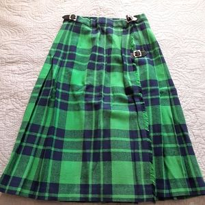 Authentic Kilt Green & Blue From Scotland